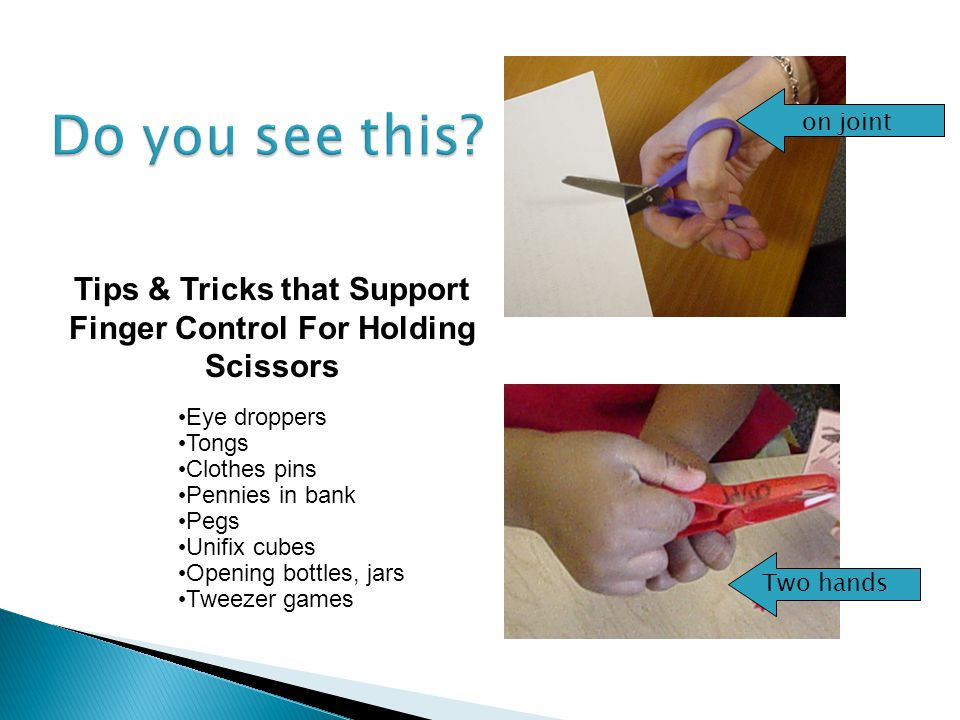 Tips & Tricks that Support Finger Control For Holding Scissors