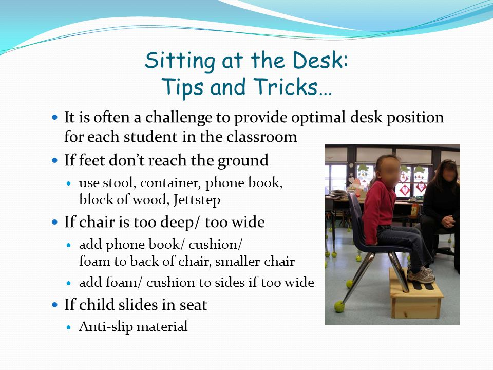 Sitting at the Desk: Tips and Tricks…