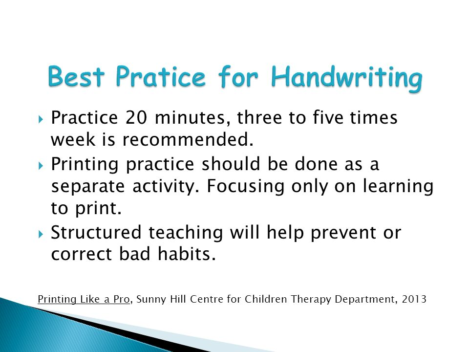 Best Pratice for Handwriting