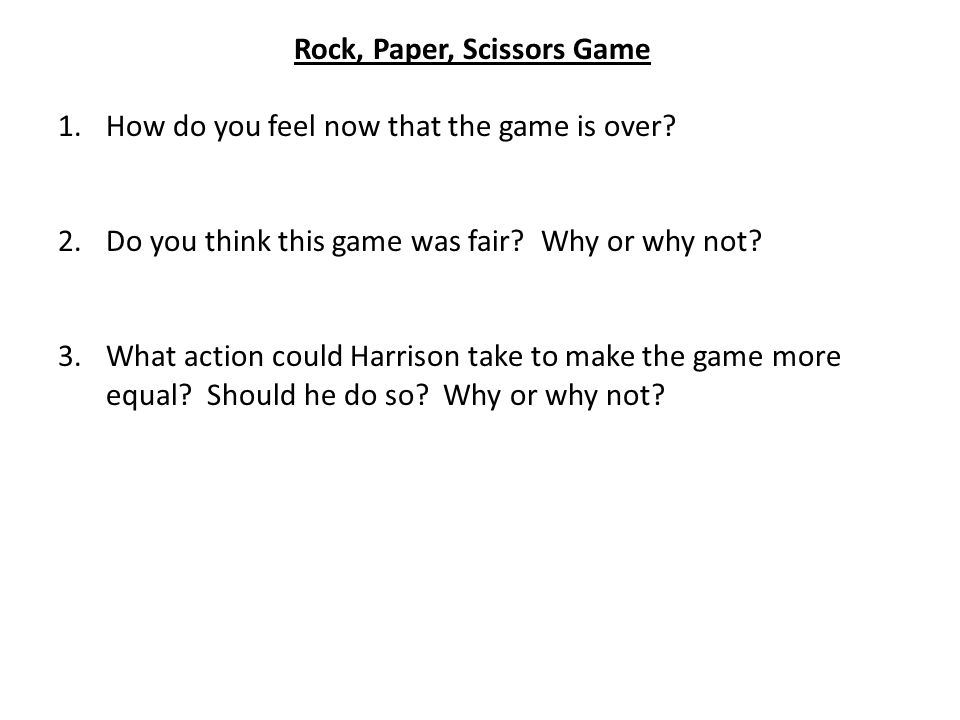 Rock, Paper, Scissors Game