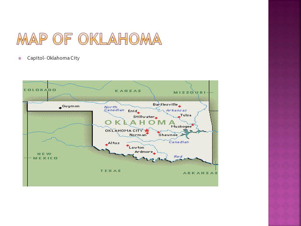 Map of Oklahoma Capitol- Oklahoma City