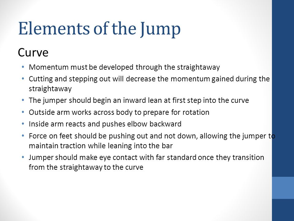 Elements of the Jump Curve