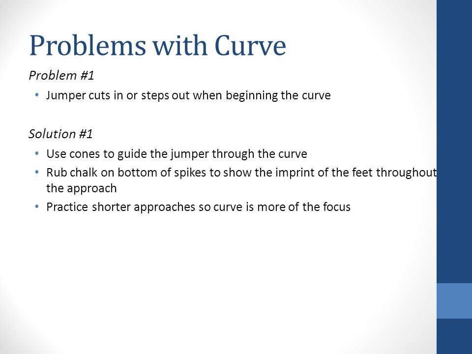 Problems with Curve Problem #1 Solution #1