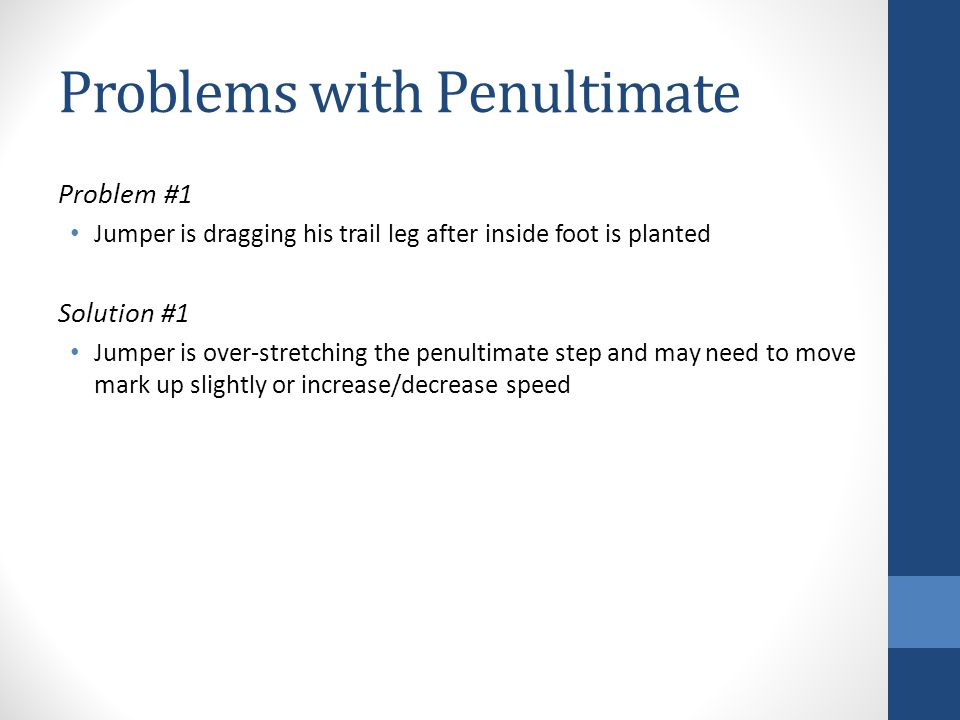 Problems with Penultimate