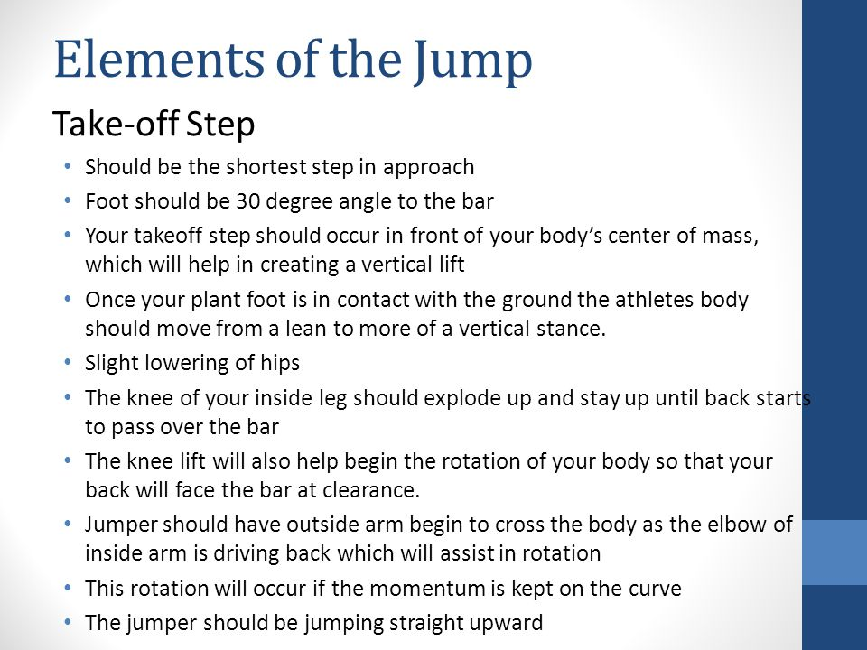 Elements of the Jump Take-off Step