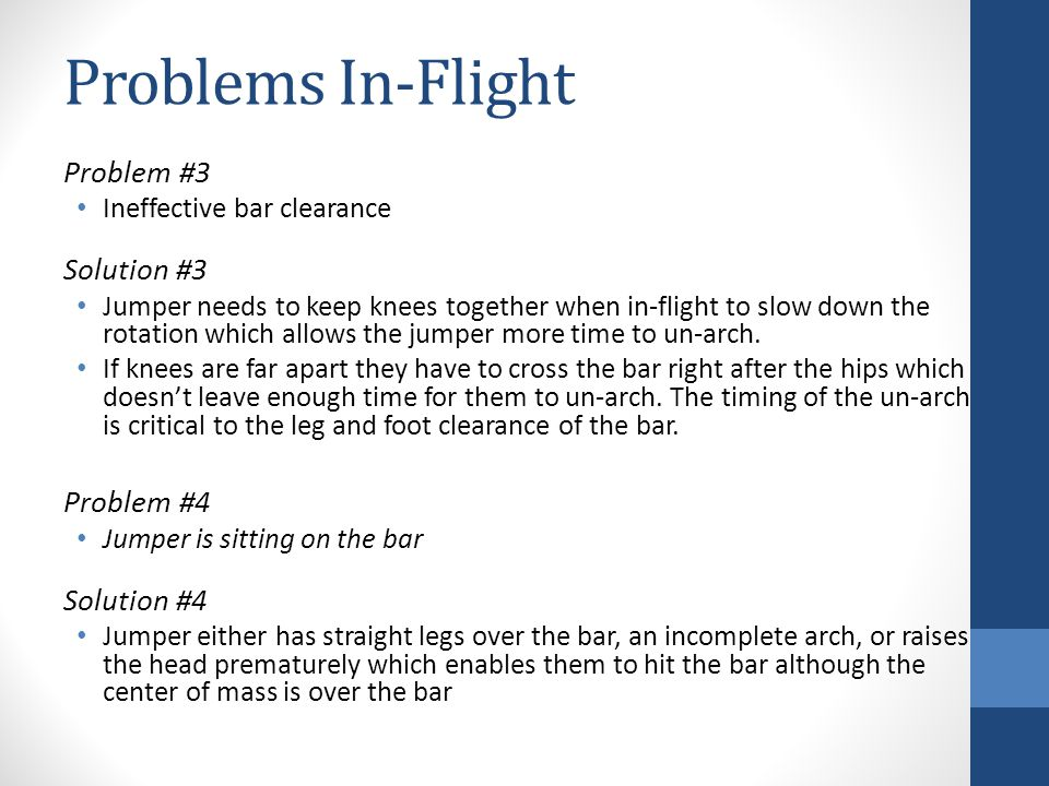 Problems In-Flight Problem #3 Solution #3 Problem #4 Solution #4