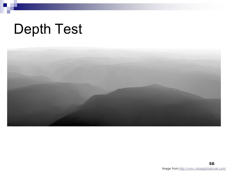 Depth Test Image from http://www.virtualglobebook.com/