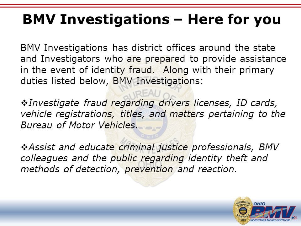 BMV Investigations – Here for you