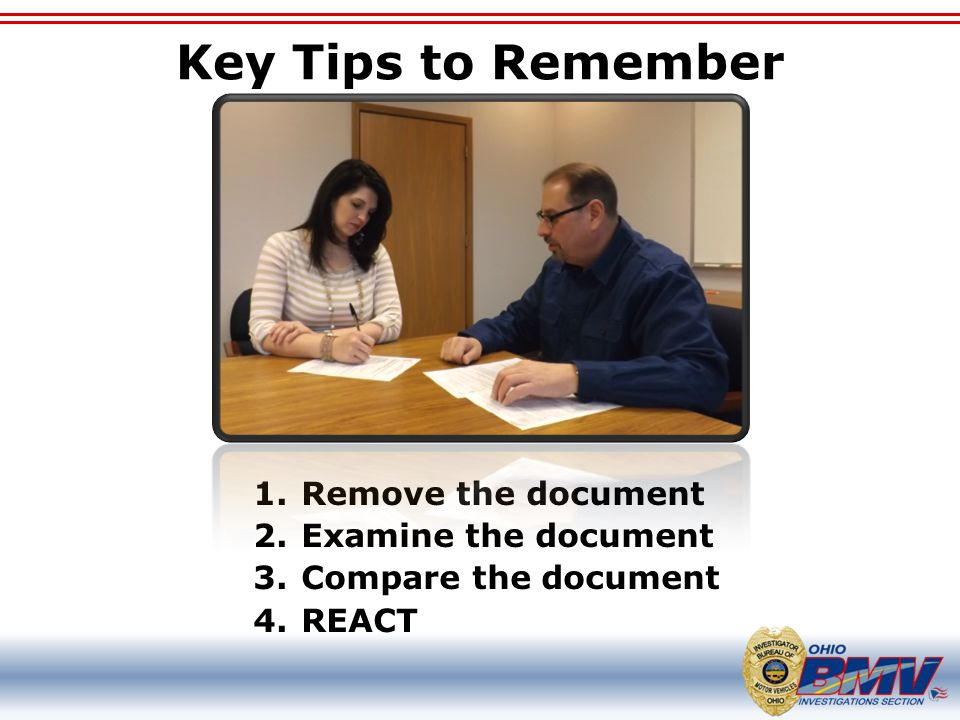 Key Tips to Remember Remove the document Examine the document