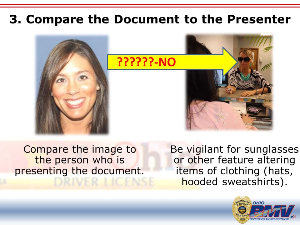 3. Compare the Document to the Presenter