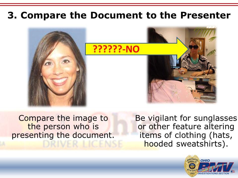 3. Compare the Document to the Presenter