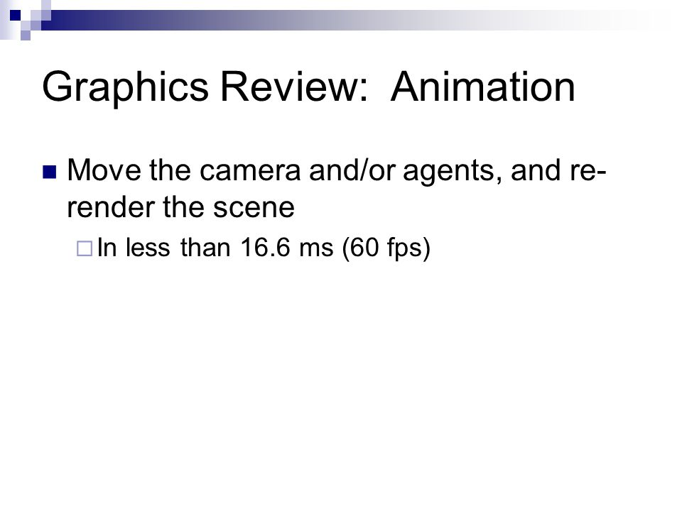 Graphics Review: Animation