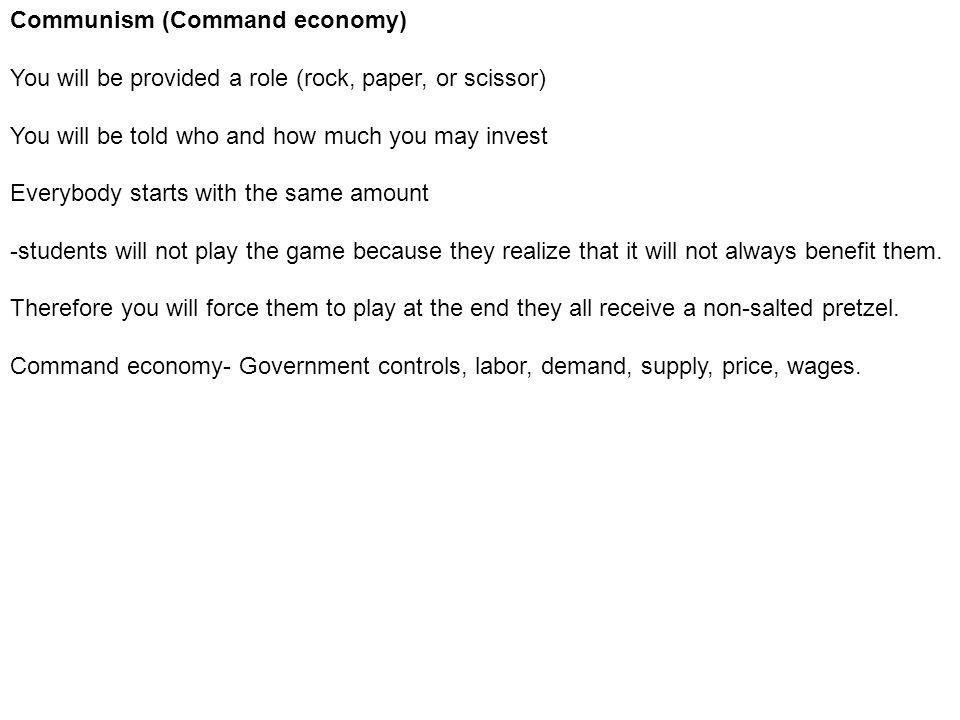 Communism (Command economy)