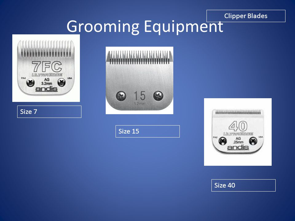 Grooming Equipment Clipper Blades Size 7 Size 15 Size 40