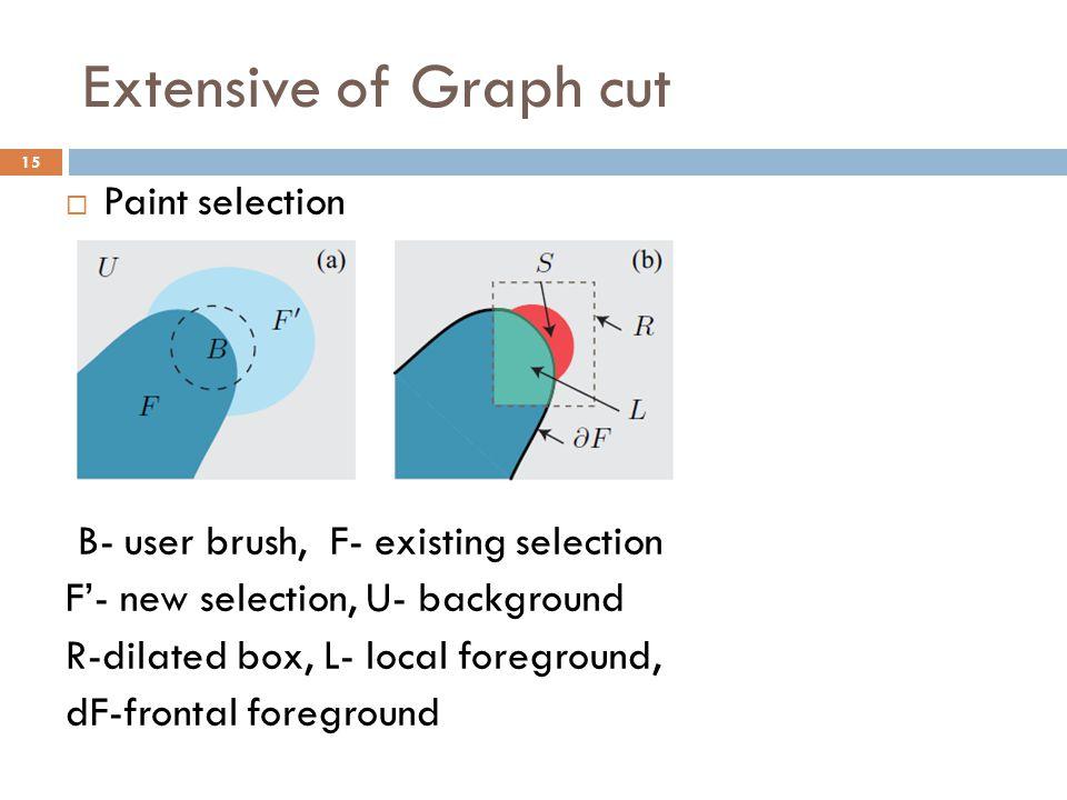 Extensive of Graph cut Paint selection
