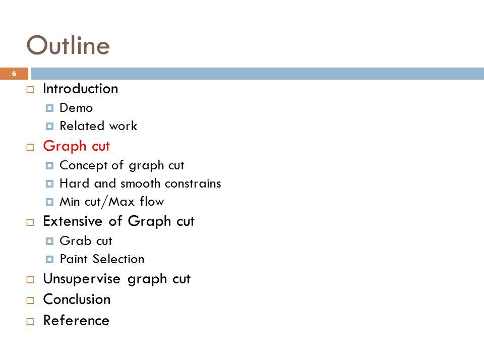 Outline Introduction Graph cut Extensive of Graph cut