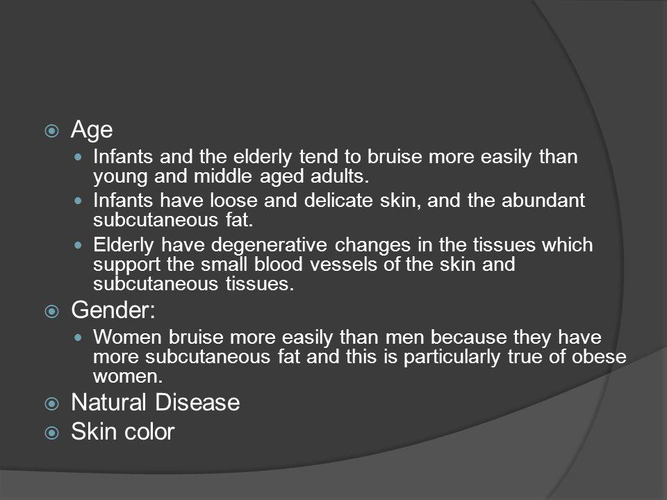 Age Gender: Natural Disease Skin color