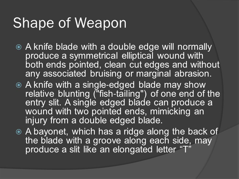 Shape of Weapon