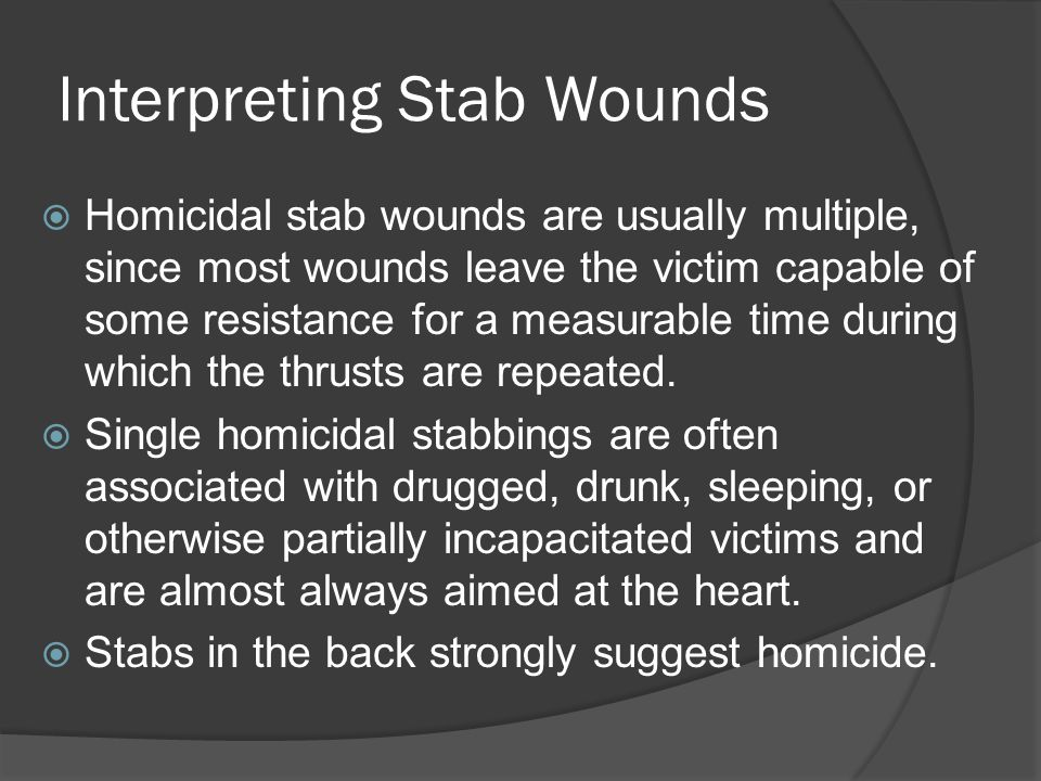 Interpreting Stab Wounds