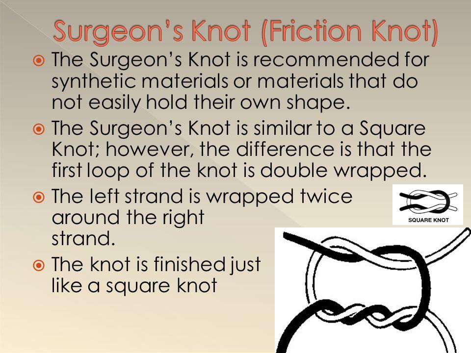 Surgeon's Knot (Friction Knot)