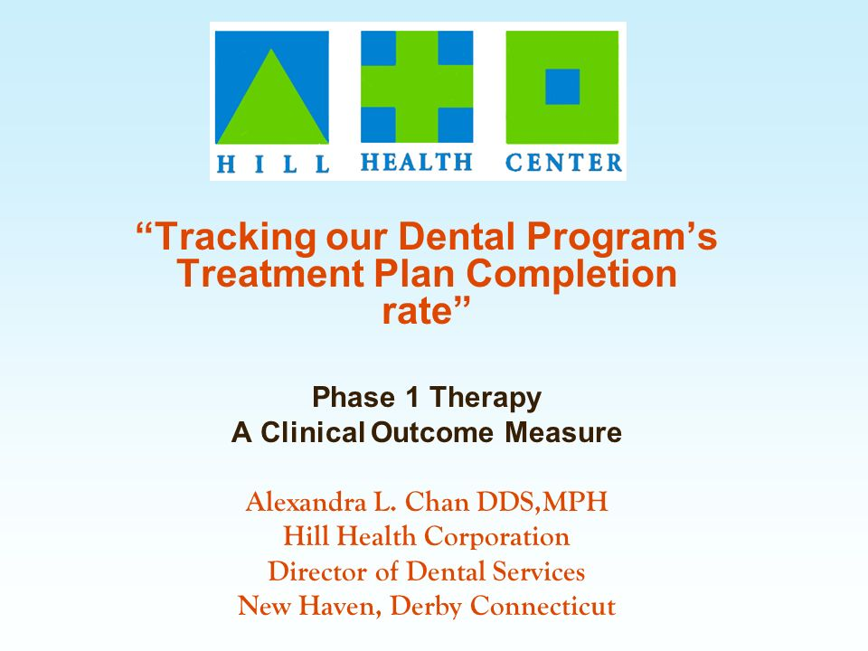 Tracking our Dental Program's Treatment Plan Completion rate