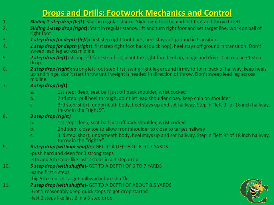 Drops and Drills: Footwork Mechanics and Control