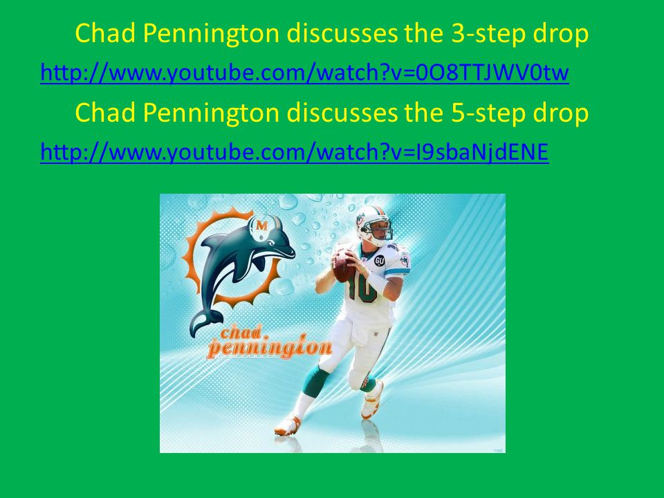 Chad Pennington discusses the 3-step drop