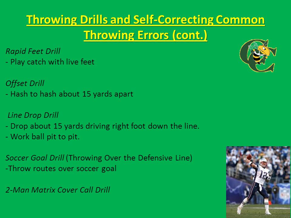 Throwing Drills and Self-Correcting Common Throwing Errors (cont.)