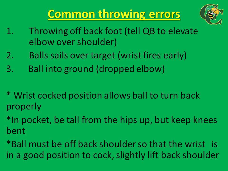 Common throwing errors