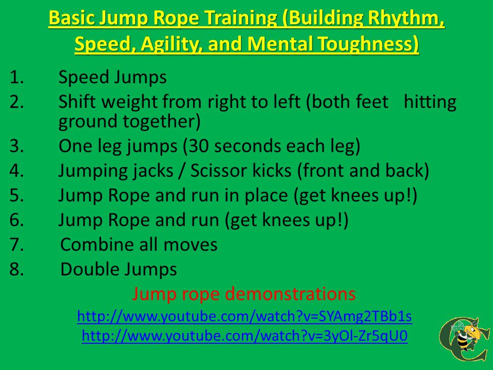 Jump rope demonstrations