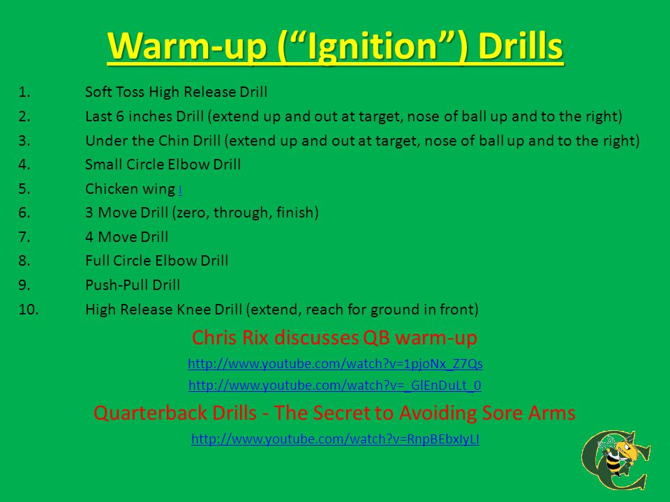 Warm-up ( Ignition ) Drills