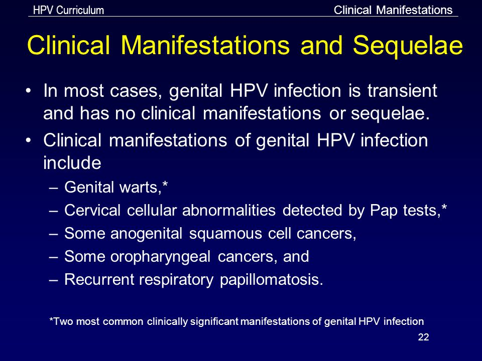 Clinical Manifestations and Sequelae