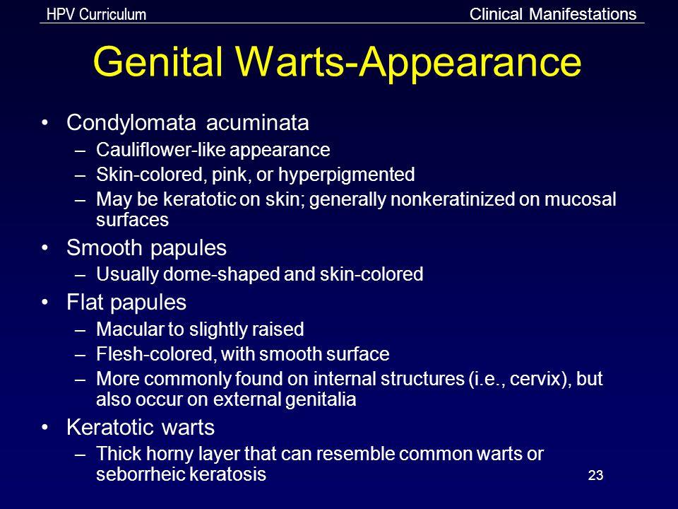 Genital Warts-Appearance