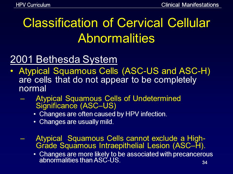 Classification of Cervical Cellular Abnormalities