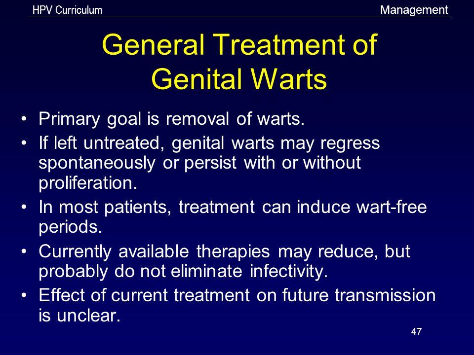 General Treatment of Genital Warts