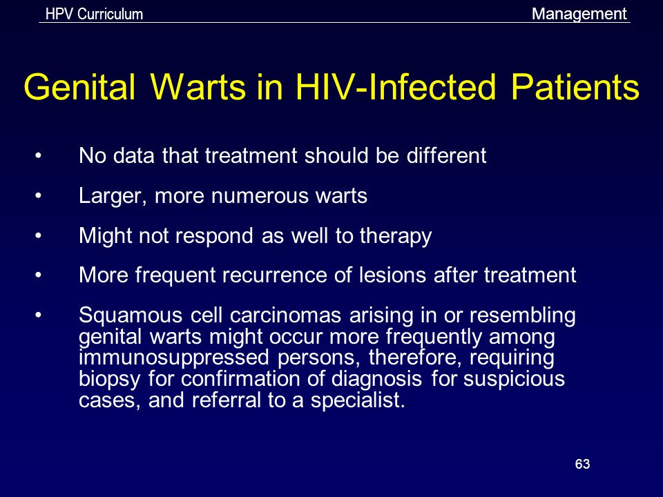 Genital Warts in HIV-Infected Patients