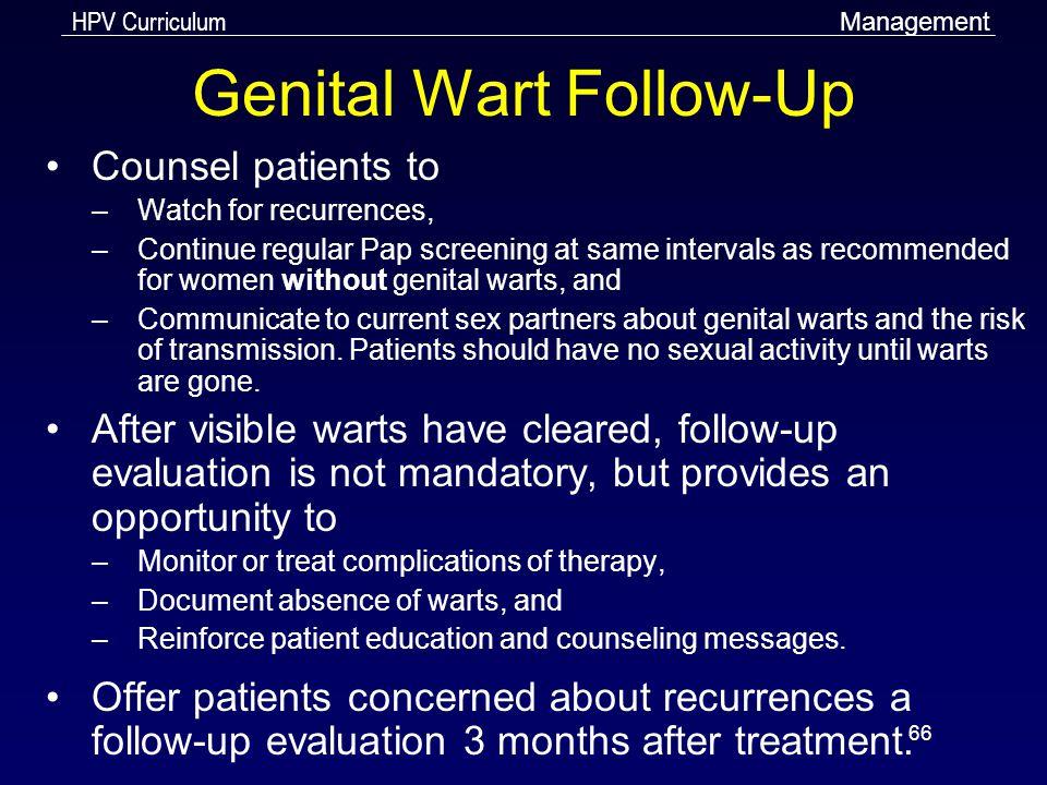 Genital Wart Follow-Up