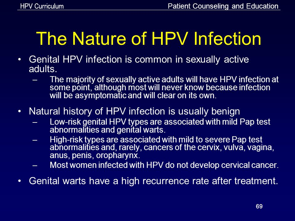 The Nature of HPV Infection