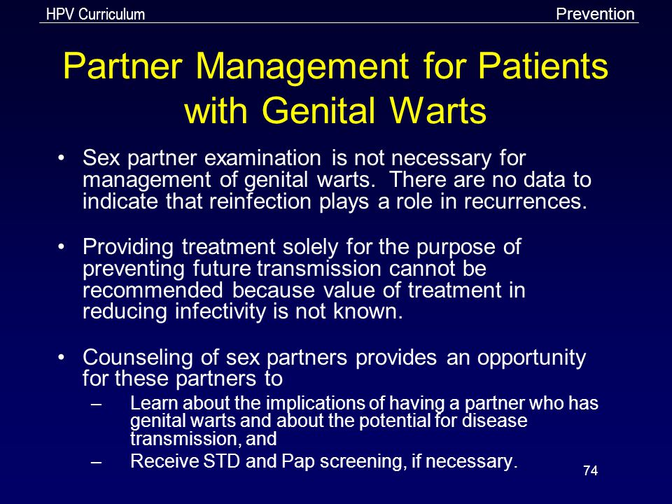 Partner Management for Patients with Genital Warts