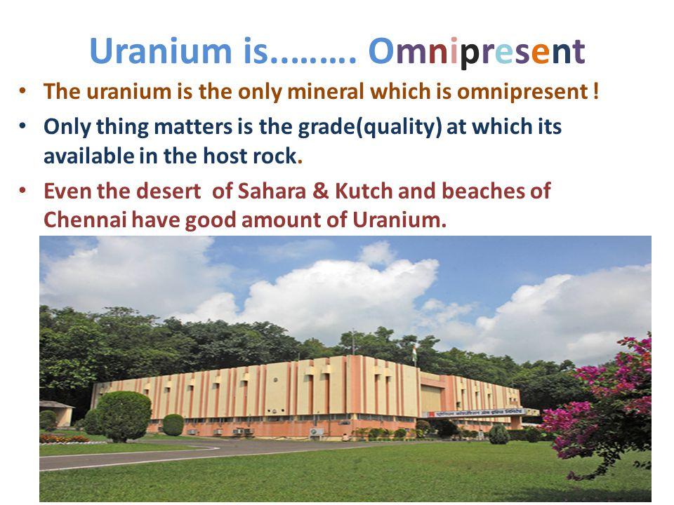 Uranium is..……. Omnipresent