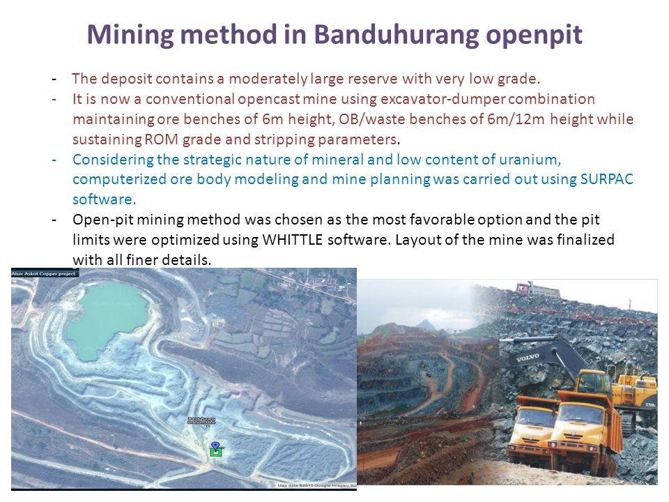 Mining method in Banduhurang openpit
