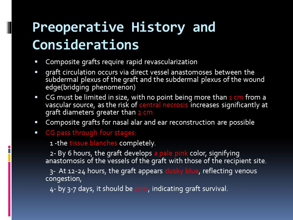Preoperative History and Considerations