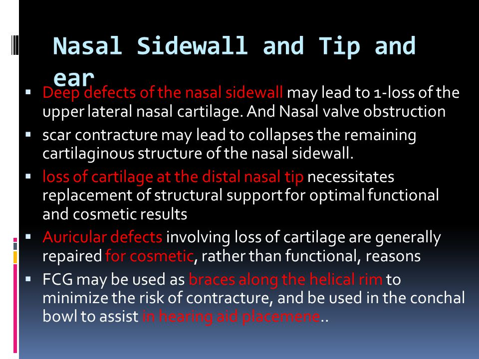 Nasal Sidewall and Tip and ear