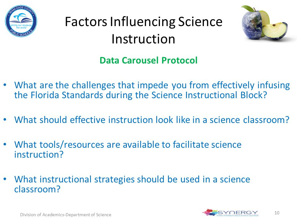 Factors Influencing Science Instruction