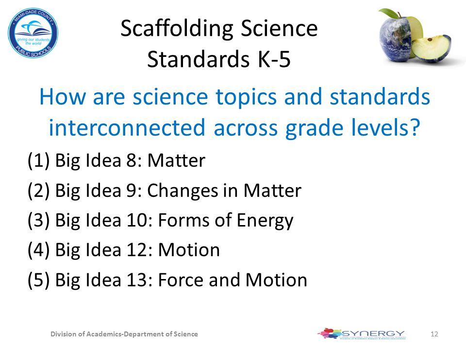 Scaffolding Science Standards K-5