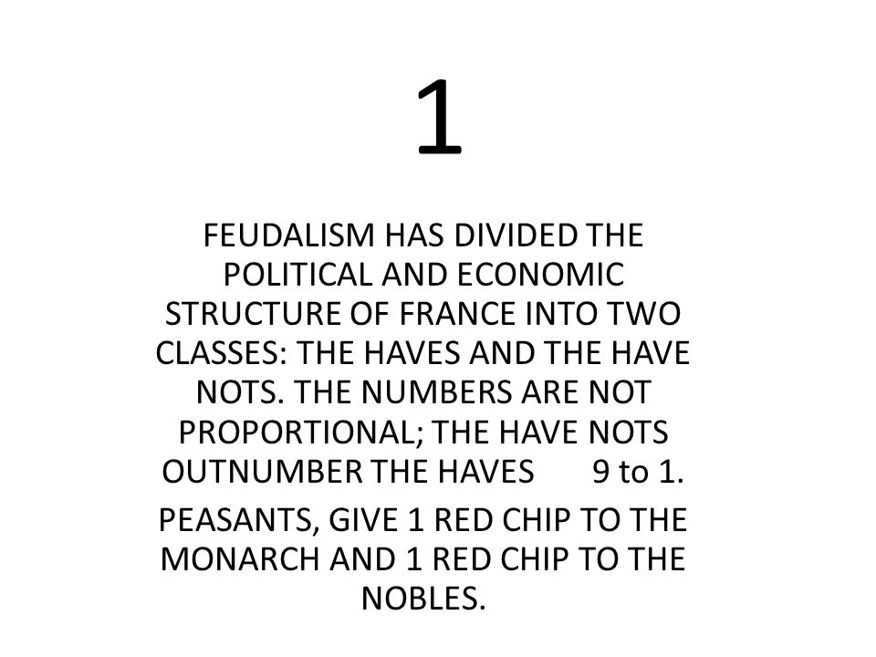PEASANTS, GIVE 1 RED CHIP TO THE MONARCH AND 1 RED CHIP TO THE NOBLES.
