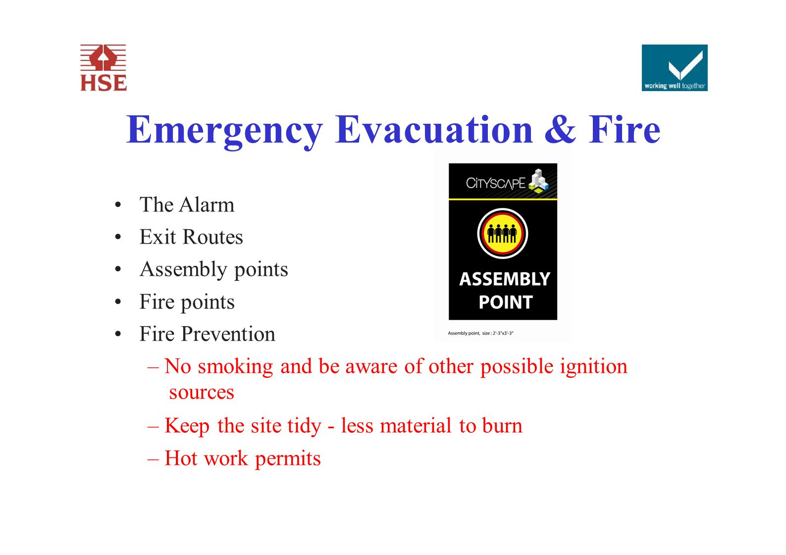 Emergency Evacuation & Fire