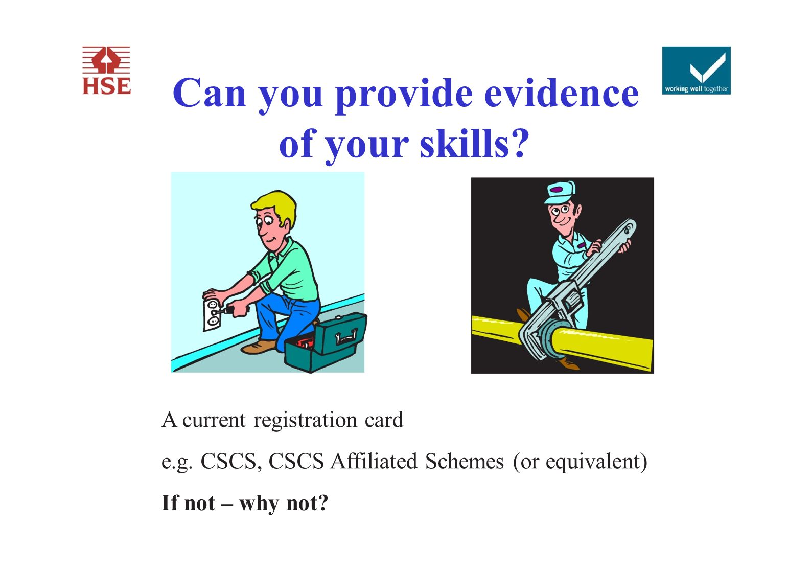 Can you provide evidence of your skills