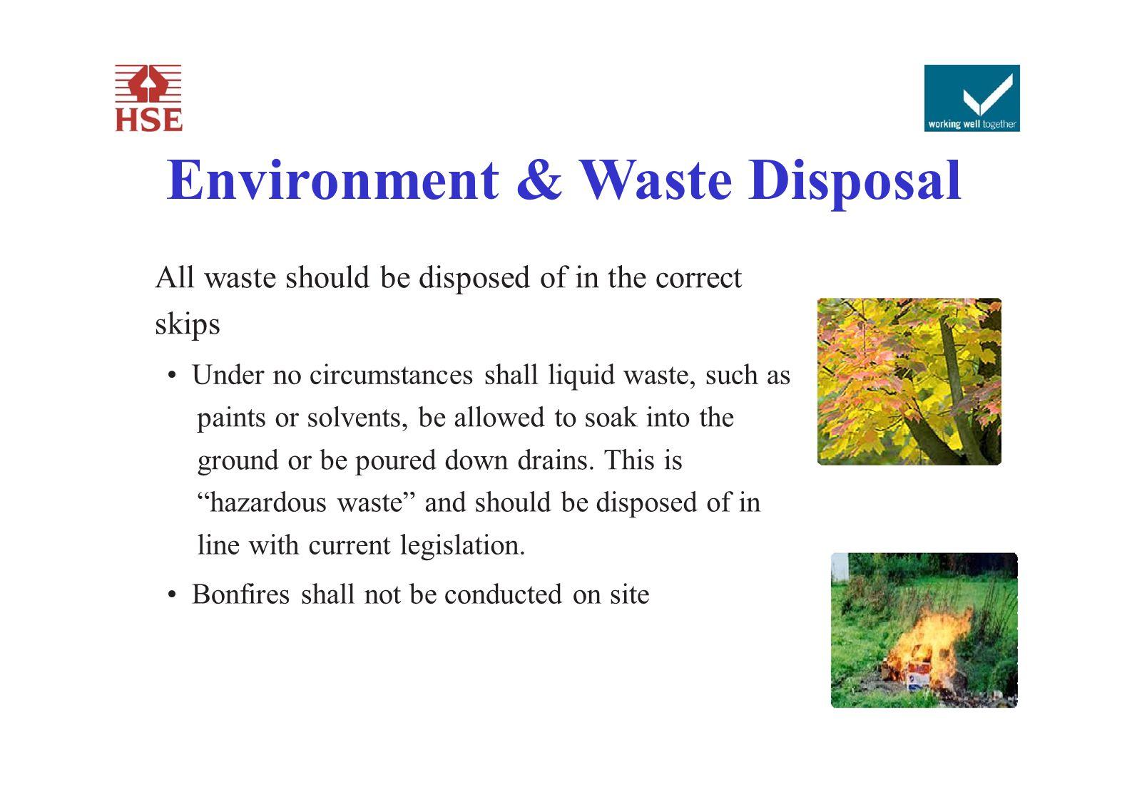 Environment & Waste Disposal