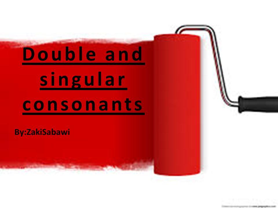 Double and singular consonants